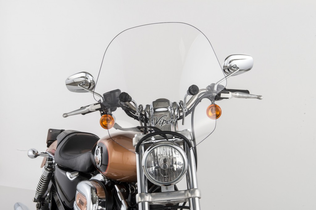 Slipstreamer Clear Viper Windshield with Clamp SS-10-C-1.25